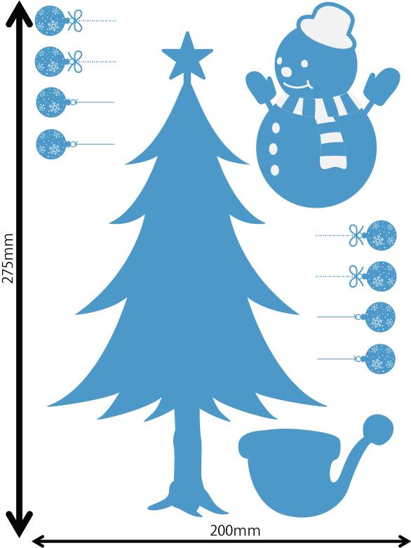 雪の結晶及びクリスマス 中青 Eサイズ入り