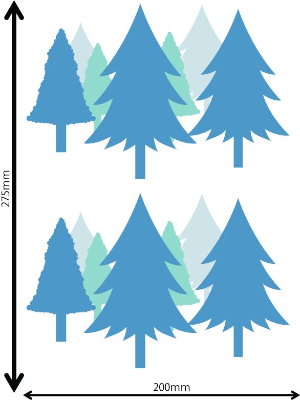 雪の結晶及びクリスマス 中青 F サイズ入り