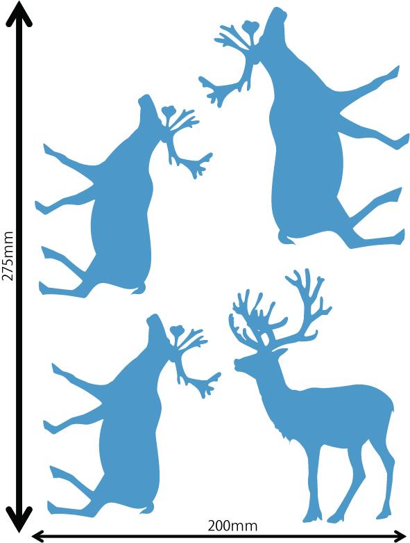 雪の結晶及びクリスマス 中青 Gサイズ入り