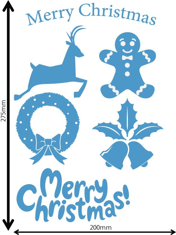 雪の結晶及びクリスマス 中青 C