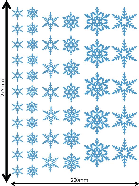 雪の結晶及びクリスマス 中青 Iサイズ入り