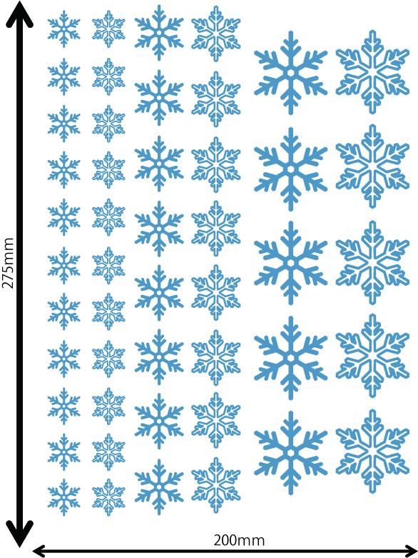 雪の結晶及びクリスマス 中青 Hサイズ入り