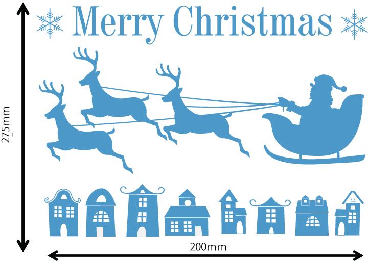 雪の結晶及びクリスマス 中青 Aサイズ入り