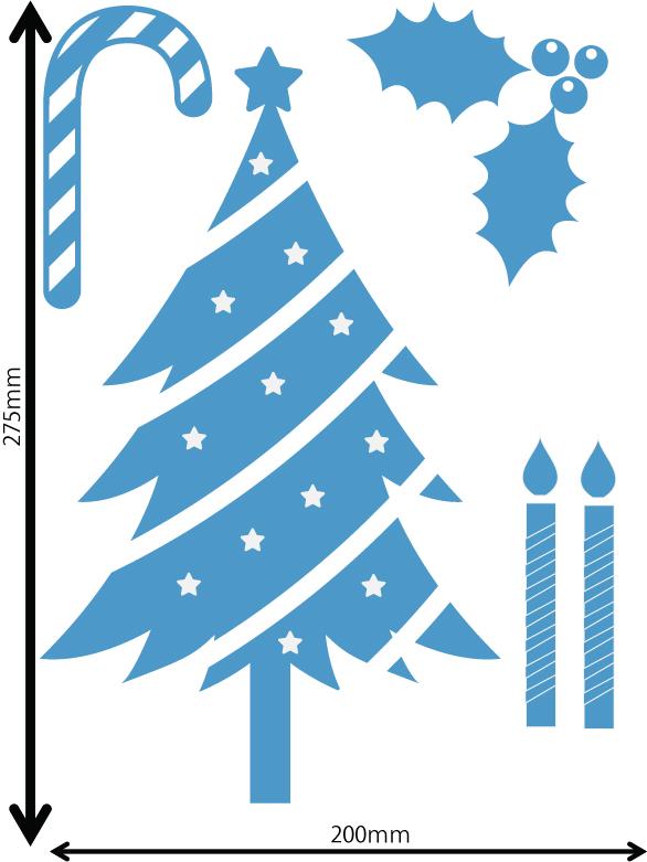 雪の結晶及びクリスマス 中青 Dサイズ入り